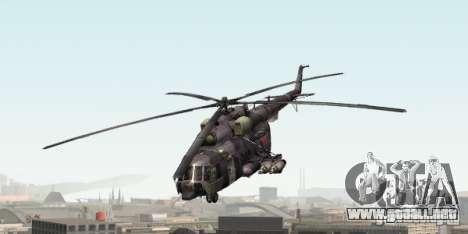 Camo gris MI-8 para GTA San Andreas