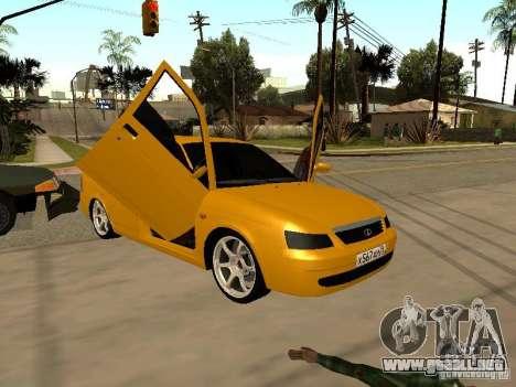 LADA Priora 2170 para visión interna GTA San Andreas