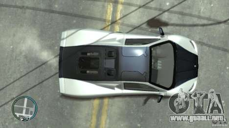 Shelby Super Cars Ultimate Aero para GTA 4 vista hacia atrás
