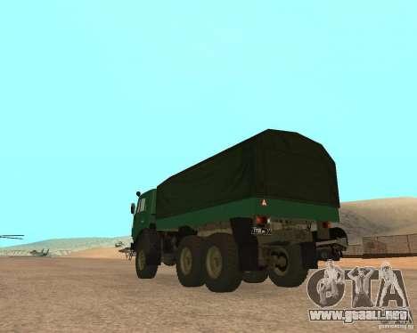 KAMAZ 4310 para GTA San Andreas left