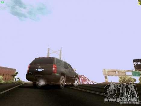 Chevrolet Tahoe 2009 Unmarked para GTA San Andreas vista hacia atrás