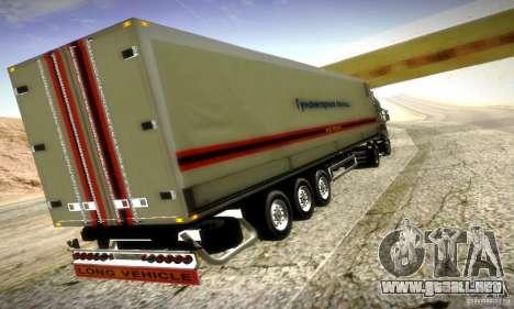 Rusia FEMA Trailer para GTA San Andreas vista posterior izquierda