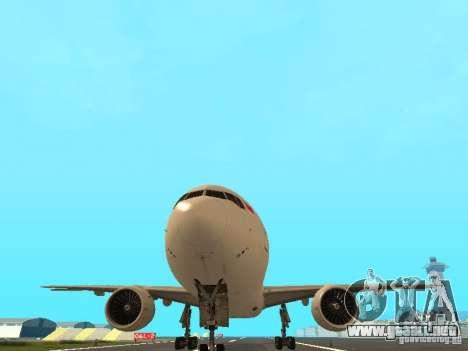 Boeing 777-200 Singapore Airlines para visión interna GTA San Andreas