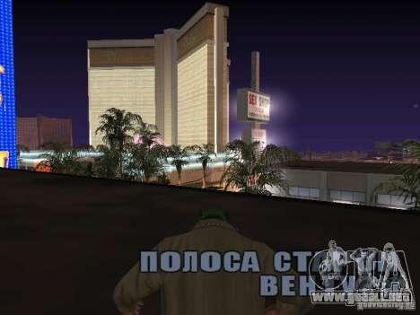 cuerda para GTA San Andreas sucesivamente de pantalla