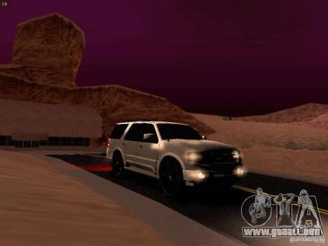 Ford Expedition 2008 para la vista superior GTA San Andreas