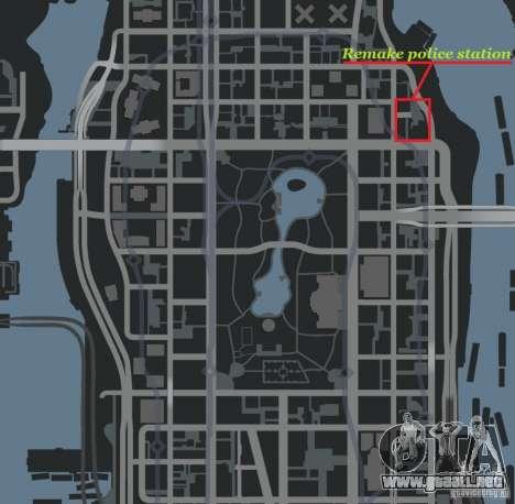Remake police station para GTA 4 adelante de pantalla