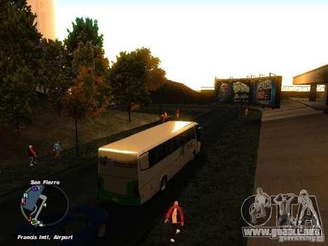 Bus Kramat Djati para la visión correcta GTA San Andreas
