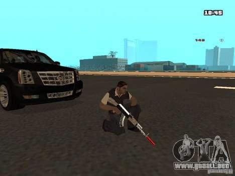 White Red Gun para GTA San Andreas sexta pantalla
