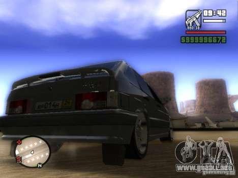 ВАЗ 2114 Tuning para GTA San Andreas vista posterior izquierda