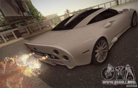 Spyker C8 Aileron para la visión correcta GTA San Andreas