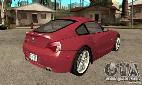 BMW Z4 - Stock para la visión correcta GTA San Andreas