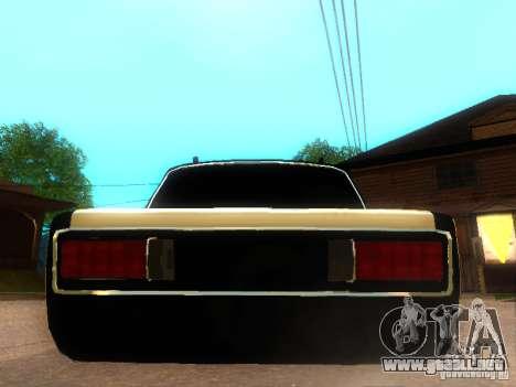 Estilo de dag 2106 Vaz para GTA San Andreas vista posterior izquierda
