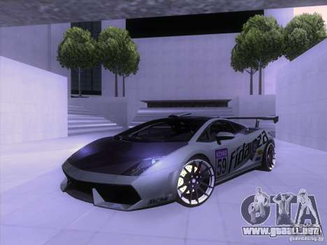 Lamborghini Gallardo Racing Street para la vista superior GTA San Andreas