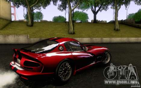 Dodge Viper GTS Coupe TT Black Revel para GTA San Andreas left