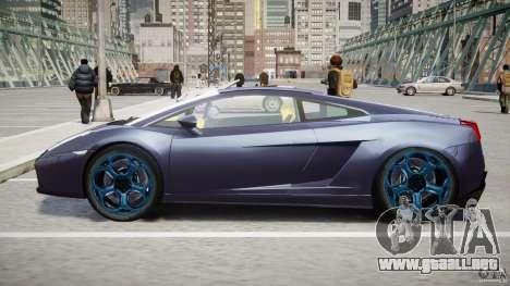 Lamborghini Gallardo Superleggera para GTA 4 vista desde abajo