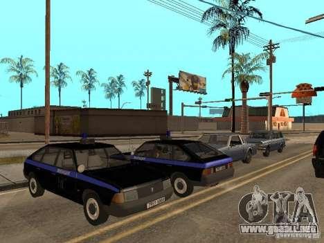 Patrulla AZLK 21418 para visión interna GTA San Andreas
