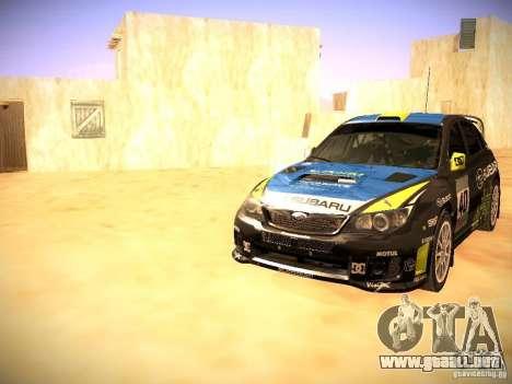 Subaru impreza Tarmac Rally para las ruedas de GTA San Andreas