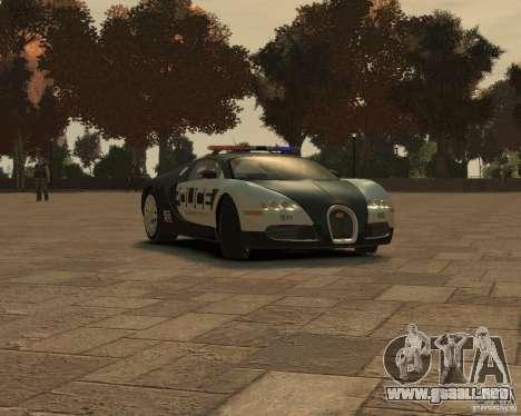Bugatti Veyron Police [EPM] para GTA 4 left