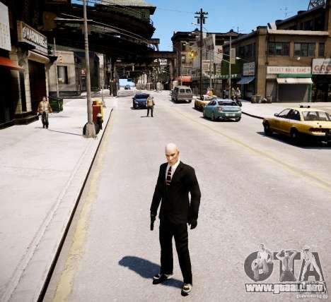 Hitman Blood Money Skin para GTA 4 adelante de pantalla