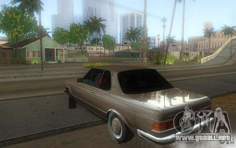 Mercedes Benz 280 CE W123 1986 para GTA San Andreas left