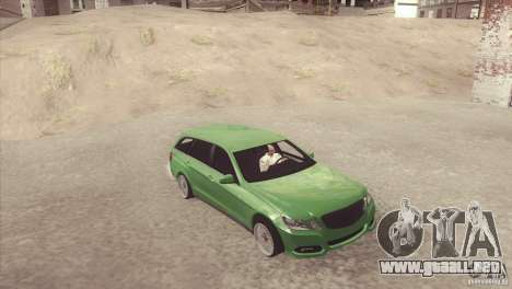 Mercedes-Benz E-Class Estate S212 para GTA San Andreas vista posterior izquierda