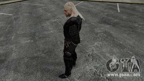 Geralt de Rivia v7 para GTA 4 adelante de pantalla
