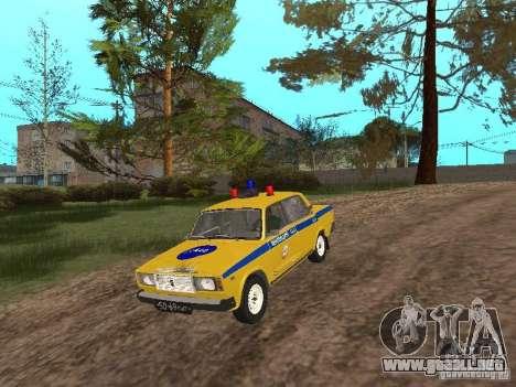 VAZ 2107 AUTO INSPECCIÓN para la visión correcta GTA San Andreas