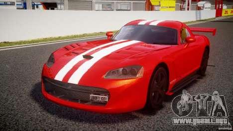 Dodge Viper RT 10 Need for Speed:Shift Tuning para GTA 4