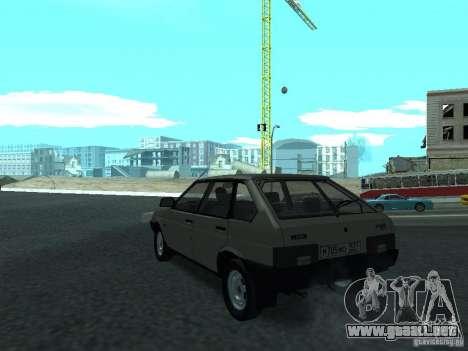 VAZ 2109 CR v. 2 para GTA San Andreas vista posterior izquierda