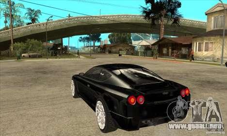 GTA IV SuperGT para GTA San Andreas vista posterior izquierda