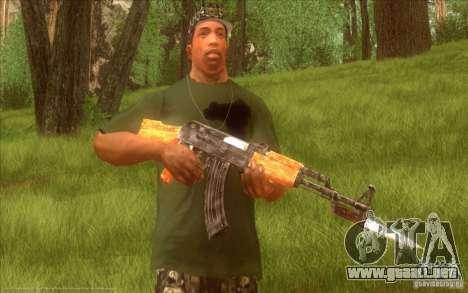 Kalashnikov HD para GTA San Andreas quinta pantalla