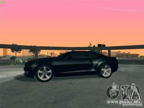 Chevrolet Camaro SS para la vista superior GTA San Andreas