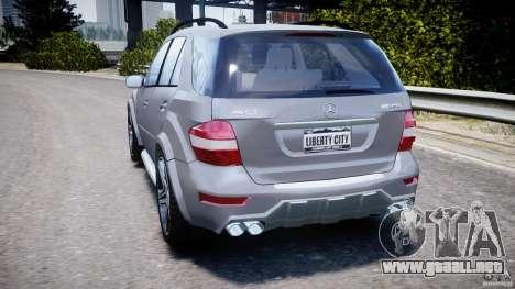 Mercedes-Benz ML63 AMG v2.0 para GTA 4 Vista posterior izquierda