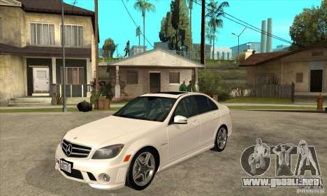 Mercedes-Benz C63 AMG 2010 para vista lateral GTA San Andreas