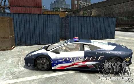 Lamborghini Reventon Police Stinger Version para GTA 4 left