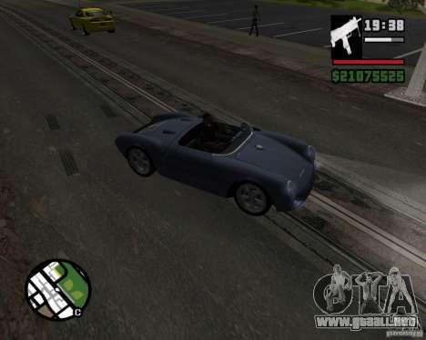 Porsche 550 para visión interna GTA San Andreas