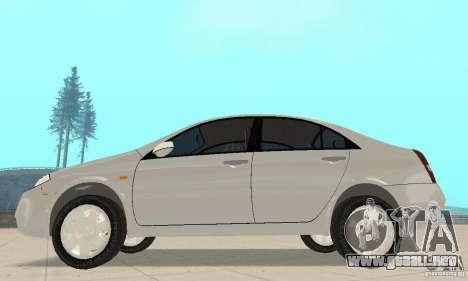 Nissan Primera para GTA San Andreas vista posterior izquierda