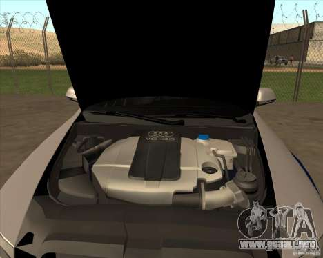 Audi RS6 2010 DPS para GTA San Andreas vista hacia atrás