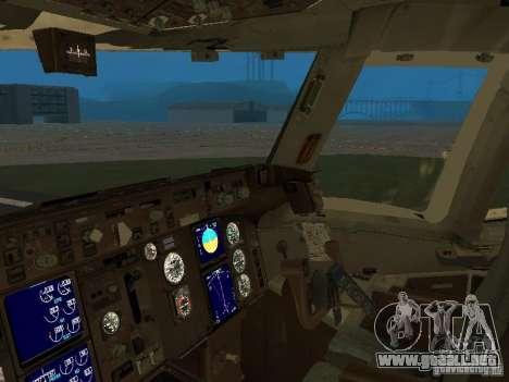 Boeing 767-300 United Airlines New Livery para visión interna GTA San Andreas