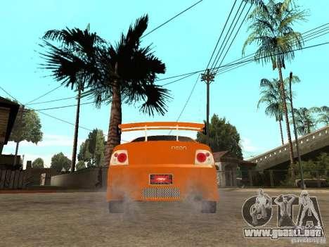 Dodge Neon para GTA San Andreas vista posterior izquierda