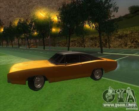Dodge Charger RT 1968 para visión interna GTA San Andreas