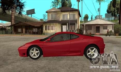 Ferrari 360 Modena para GTA San Andreas left