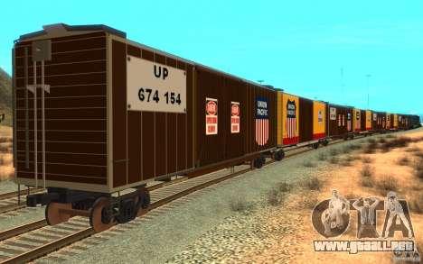 Union Pacific Reefer para la visión correcta GTA San Andreas