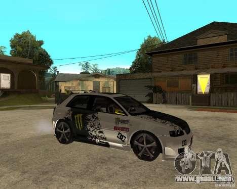 Audi S3 Monster Energy para la visión correcta GTA San Andreas