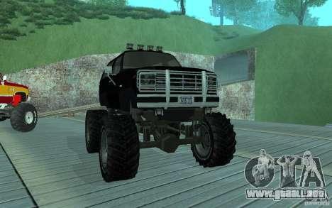 Ford Bronco Monster Truck 1985 para GTA San Andreas left