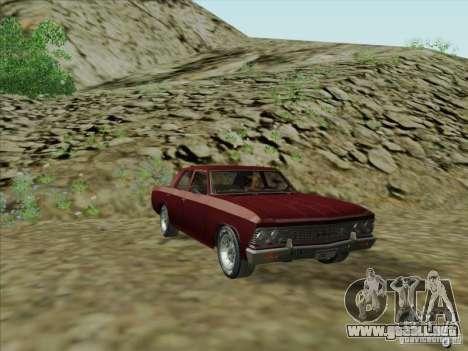 Chevrolet Chevelle para GTA San Andreas vista posterior izquierda