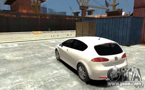 Seat Leon Cupra v.2 para GTA 4 Vista posterior izquierda