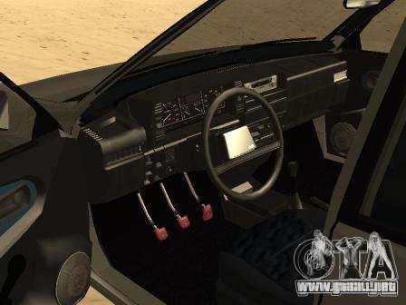 VAZ 21099 verano para GTA San Andreas vista posterior izquierda