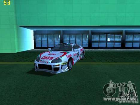 Toyota Supra para la vista superior GTA San Andreas