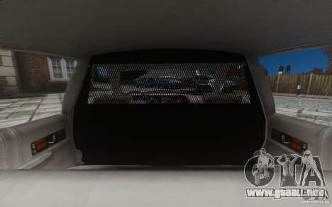 Chevrolet Caprice 1991 Police para GTA 4 ruedas